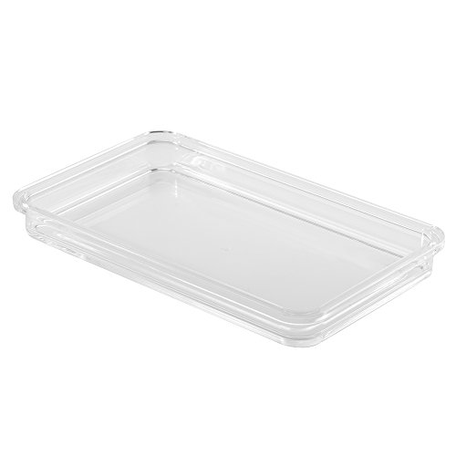 InterDesign 39880 Clarity Guest Towel Tray, Clear