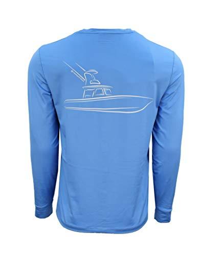 (Vineyard Vines Men's Graphic Performance T Shirt Catamaran Long Sleeve (Ocean Breeze Sportfisher, X-Large))