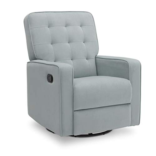 Delta Children Gavin Nursery Glider Swivel Recliner Featuring LiveSmart Fabric by Culp, Mist