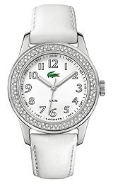 Lacoste Advantage (Lacoste Advantage White Dial White Leather Ladies Watch 2000464)