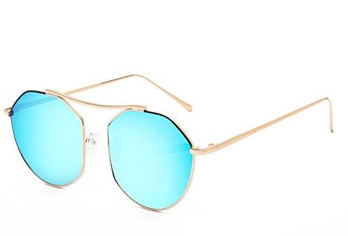 JUNHONGZHANG Gafas Gafas Gafas De Gafas Redondo Viajes Sol De Sol Decorativas Hombre Señoras De D De Moda G rrxfqpHd