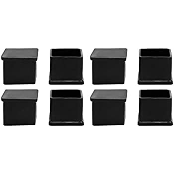 Amazon Com Uxcell Rubber Chair Leg Caps End Pad Feet Cover Furniture Slider Floor Protector 8pcs 1 18 Inches X 1 18 Inches 30x30mm Inner Size
