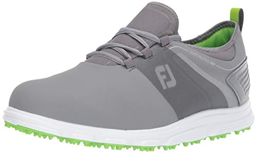 FootJoy Men's Superlites XP-Previous Season Style Golf Shoes, Grey/Lime, 10.5 M US from FootJoy