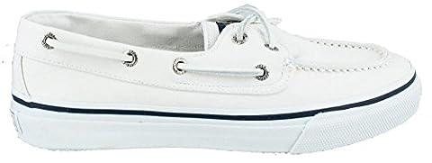 Sperry Top-Sider Men's Bahama 2 Eye Boat Shoe, White, 9 M US