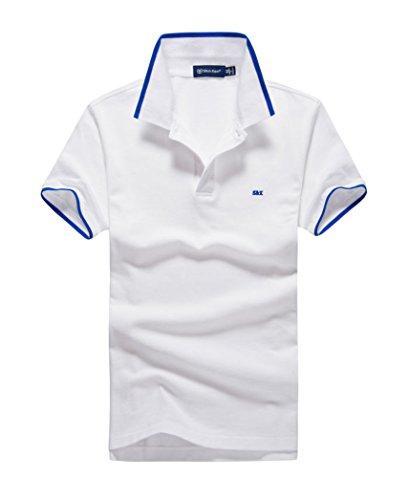 (シンアンドケン) sin&ken ポロシャツ メンズ シャツ 半袖 ポロ ゴルフウェア トップス … (S, ホワイト) [並行輸入品]