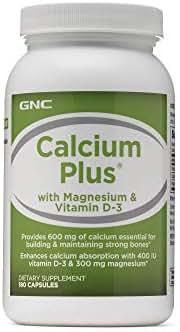 GNC Calcium Plus with Magnesium Vitamin D-3