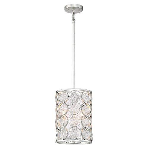 Minka Lavery Pendant Ceiling Lighting 3663-598 Culture Chic, 3-Light 180 Watts, Catalina Silver