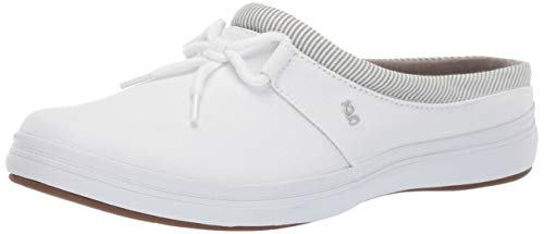 - Grasshoppers Women's Janet Mule Canvas Slip On Sneaker, White, 8.5