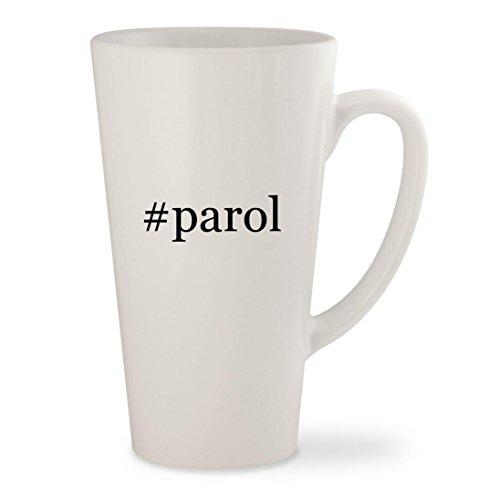 #parol - White Hashtag 17oz Ceramic Latte Mug Cup