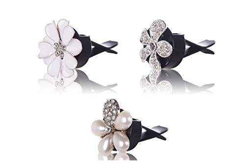 - EveryPossible Bling Interior Car Air Vent Rhinestone Diamond Decoration 3 Crystal Flowers