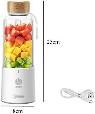 LI_HUA Mixer Mini Juicer Cup Portable USB Mixer oplaadbare persoonlijke fruitpers Smoothies Maker Home Outdoor 4 messen 350 ml BPA gratis