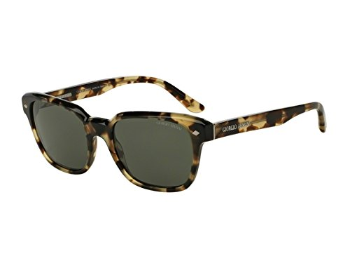 Giorgio Armani - FRAMES OF LIFE AR 8067, Wayfarer, acetate, men, GREEN HAVANA/GREEN POLARIZED(5309/58), - Of Frame Giorgio Life Armani