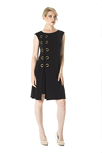 Eva Varro Women's Cup Sl Side Grommet Dress Medium Black