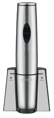 Waring Commercial WWO120 Portable Electric Wine Bottle Opener with Recharging Station by Waring