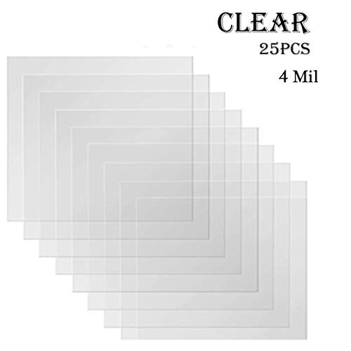 25Pcs 4Mil Clear Blank Stencil Sheets, Cooyeah 12
