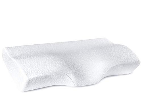 YANXUAN Contour Memory Foam Pillow for Neck Pressure Relief, Cervical Pillow Ergonomic Neck Pillow with Washable Pillowcase, 23.6' X 13.8' X 4.3'
