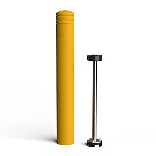 McCue FlexCore Bollard 6, Surface Mounted Shock Absorbing Bollard, CSFCB-6-307, Safety Yellow by McCue