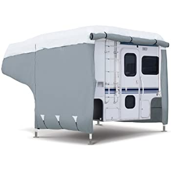 Classic Accessories OverDrive PolyPRO 3 Deluxe Camper Cover  Fits 8    10   Campers   Max Weather Protection with 3 Ply Poly Fabric Roof RV Cover. Amazon com  Budge Truck Camper Covers Fits Truck Camper RVs 8  to