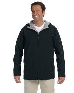 Jones Mens Soft Shell - Devon & Jones Men's Hooded Soft Shell Jacket XL Black