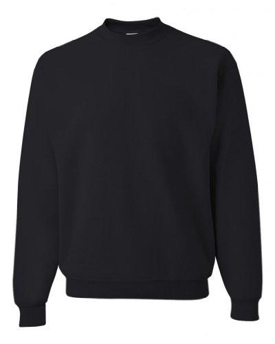 Ae Mens Sweater (Jerzees Z NuBlend 50/50 Cotton / Poly Crew Sweatshirt - Black,)