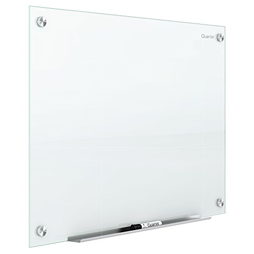 Quartet Glass Whiteboard, Magnetic Dry Erase White Board, 4' x 3', Infinity, White Surface (G4836W) (Dry Squares Erase)