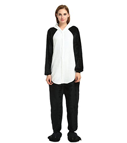 Astage Teen Adult Cosplay Outfits Halloween Pajamas Animal Onesie Cartoon Costume Black Medium