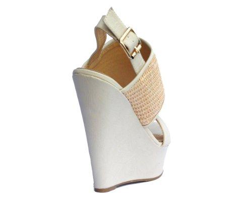 ... Dbdk Questa-en Kamel Nakne Sorte Skjegg Slingback Kile Plattform  Sandaler Nakne ...