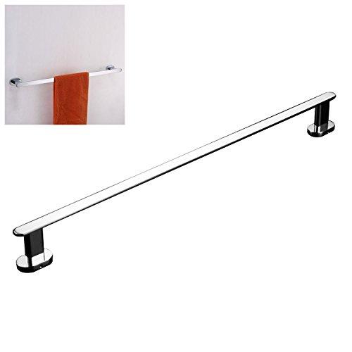 Luxury 24'' Solid Brass Single Bathroom Towel Bar Rail Rack, Towel Holder Chrome Finished Mirror Polishing Wall Mounted Bathroom Accessories by ThinkTop
