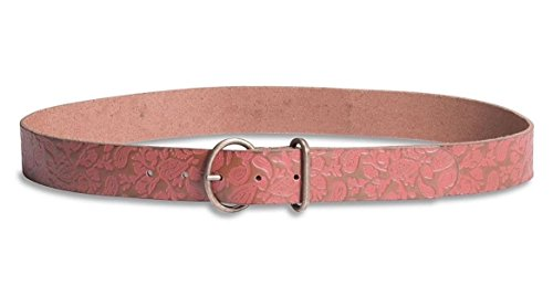 Lucky Brand - Women's - Paisley Tooled Embossed Leather Belt (Small) (Lucky Embossed Belt)