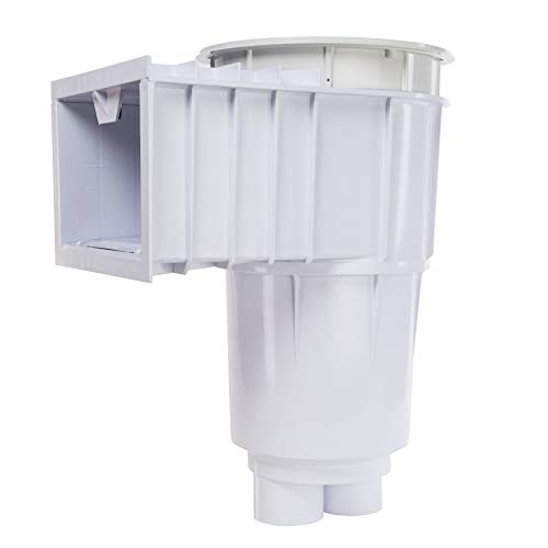 - Sta-Rite 08650-1404 U-3 SwimQuip Inground Skimmer for Concrete Pools, 2 Inch Slip with 1 1/2 Inch Slip Reducers, White w/ White Lid & Frame