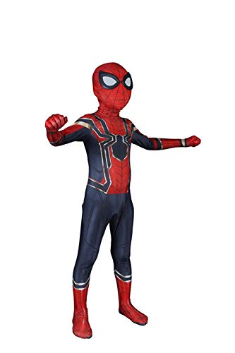 Kids Iron Spider-Man Cosplay Costume (Iron Kids, M)