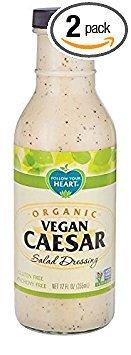 Follow Your Heart Organic Vegan Caesar Salad Dressing 335ml (Pack of 2)