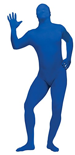 Blue Skin Child Costume (UHC Bodysuit Skin Suit Funny Theme Party Fancy Dress Halloween Teen Costume, Blue, Teen OS)