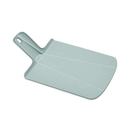 Joseph Joseph 60157 Chop2Pot Foldable Plastic Cutting Board 15 x 8.75 Non-Slip Feet 4-inch Handle Dishwasher Safe, Small, Dove Gray