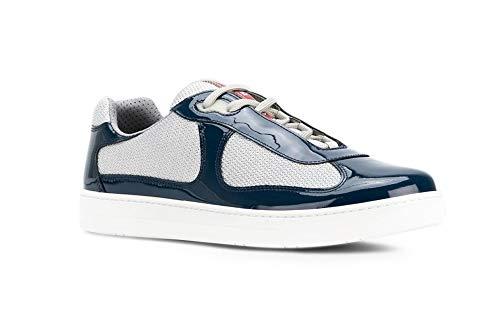Prada Men's Linea Rossa New America's Cup Sneaker, Blue 4E3166 (9.5 US / 8.5 (Linea Rossa Sneakers)