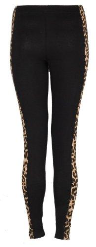 Forever Womens Plus Size Animal Leopard Side Panel Leggings