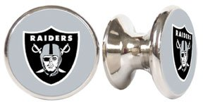 Oakland Raiders NFL Stainless Steel Cabinet Knobs / Drawer Pulls (2-pack)