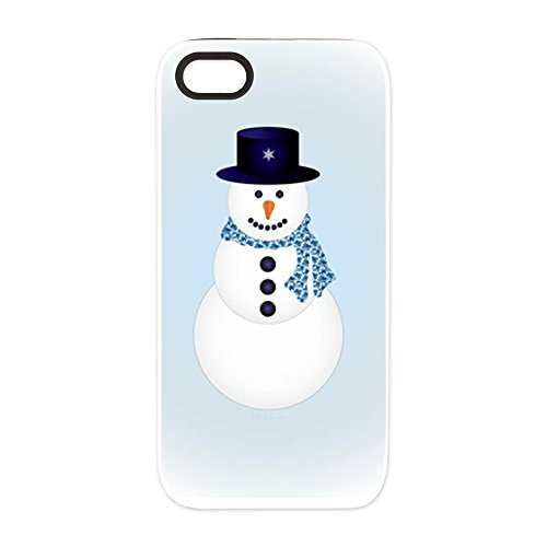 iPhone 5 or 5S Tough Rugged Case Snowman with Winter Blue Aura