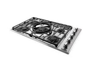 "Price comparison product image Capital Maestro Series MCT365GS-N 36"" Natural Gas Cooktop with 5 Sealed Burners Indicator Lights Reversible Central Wok Grate and Electronic Ignition / Re-ignition in Stainless"