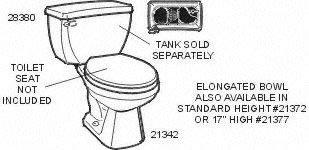 Gerber Plumbing 28380 Gerber Ultra Flush Siphon Jet Toilet Tank, White - 28380 - Gerber Urinal