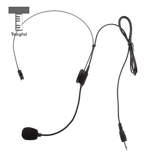 Sala-Fnt - Flexible EarHook Undirectional Head Worn Wired Boom Frame Megaphone Microphone 3.5mm Mono,3Pin XLR, 4Pin XLR Connector]()
