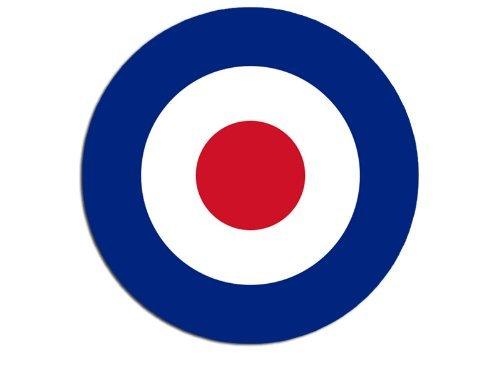 American Vinyl Round British RAF Royal Air Force Roundel Sticker (Decal)