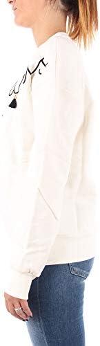 GAëLLE Felpa Donna Con Stampa e nappine Colore Bianco E21GE07