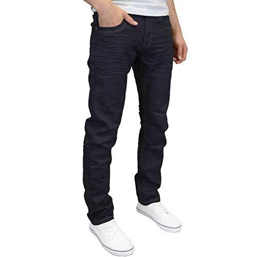 Étiquette Bleu Jeans Homme Marine Jambe Avec Crosshatch Designer Moulant Mode Droite Neuf qSwgwzH