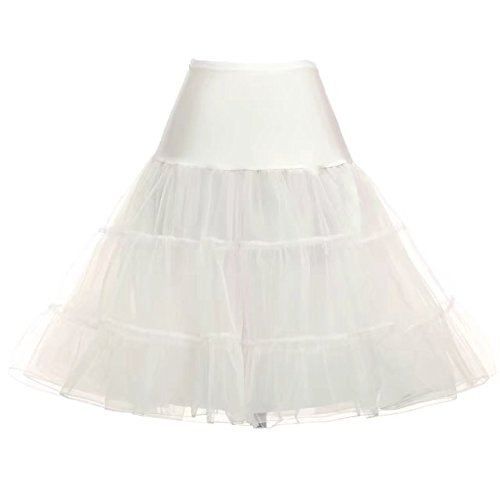 GRACE KARIN Womens Off White Petticoat Skirts Tutus Underskirt Plus Size 2X
