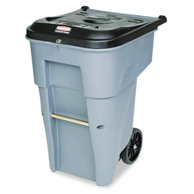 Commercial Confidential Document Container - Rubbermaid Commercial Products BRUTE Confidential Document Rollout Waste/Utility Container, 65-gallon, Gray (FG9W1088GRAY)