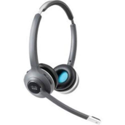Cisco 562 Headset - Stereo - Black - Wireless - DECT 6.0-300 ft48 kHz - Over-The-Head - Binaural - Supra-aural - Uni-Directional, Electret, Condenser Microphone