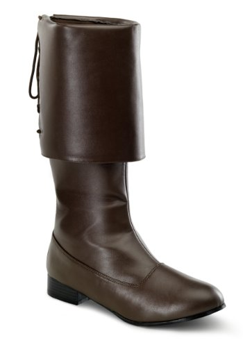 Funtasma by Pleaser Men's Halloween (Brown Pu Pirate Boot)