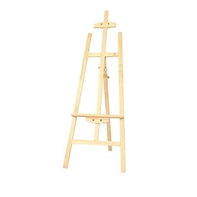 ZXL Easel Wooden 145 cm Bracket Adult Oil Painting Frame Sketch Advertising Studio Teaching Easel Stand