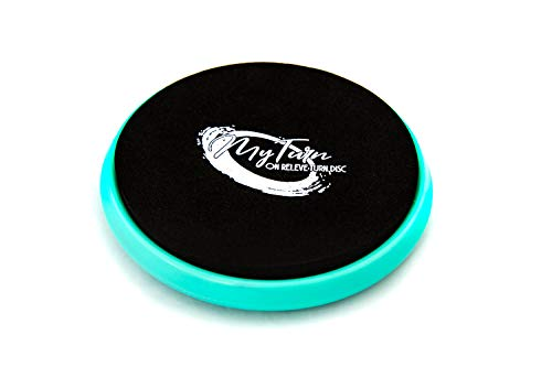 My Turn Disc, Portable Turning Board for Dancers, Ballet, Gymnastics, Equipment, Dancing Accessories for Balance Training, Technique and Spinning on Releve (Blue)